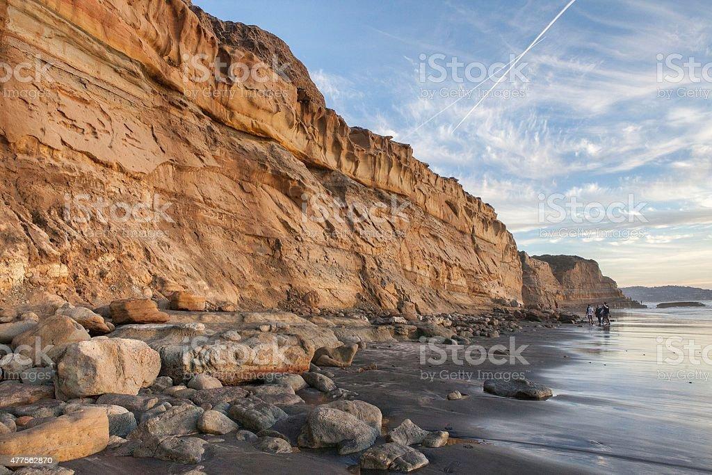 Ocean Cliffs of California stock photo