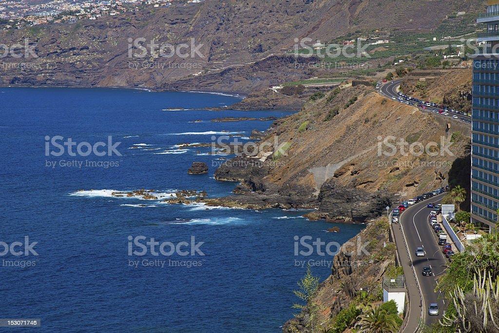ocean coast at Puerto de la Cruz, Tenerife, Spain stock photo