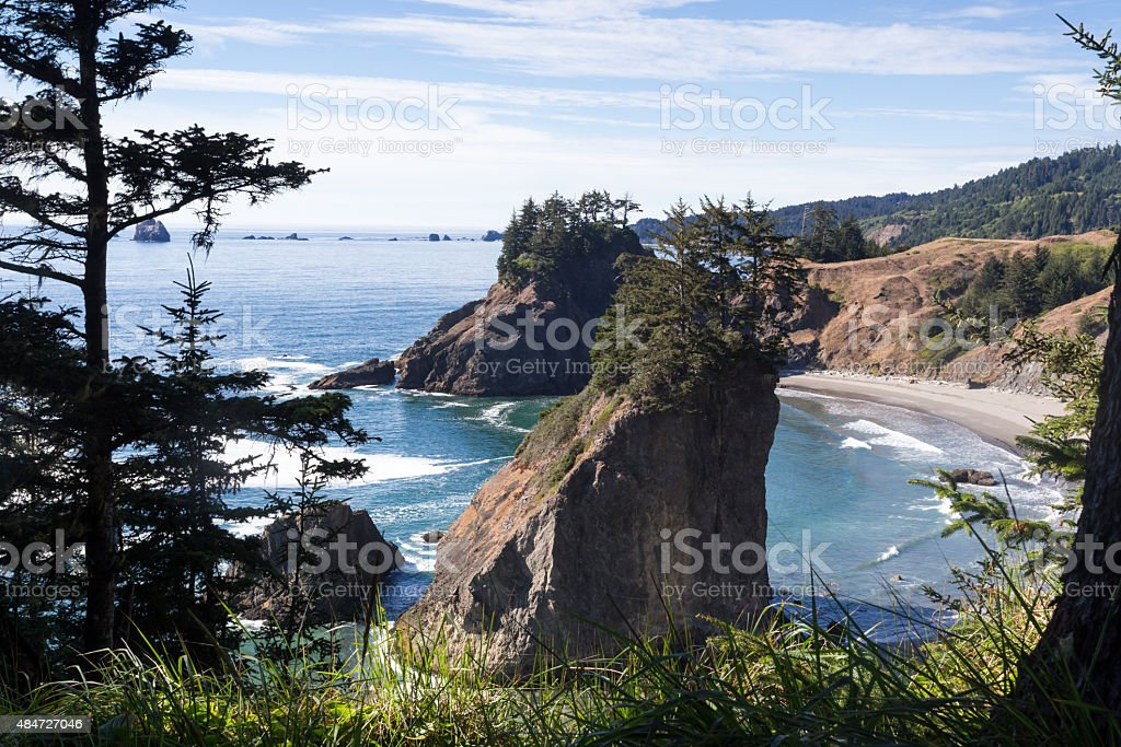 Ocean coast from a viewpoint stock photo