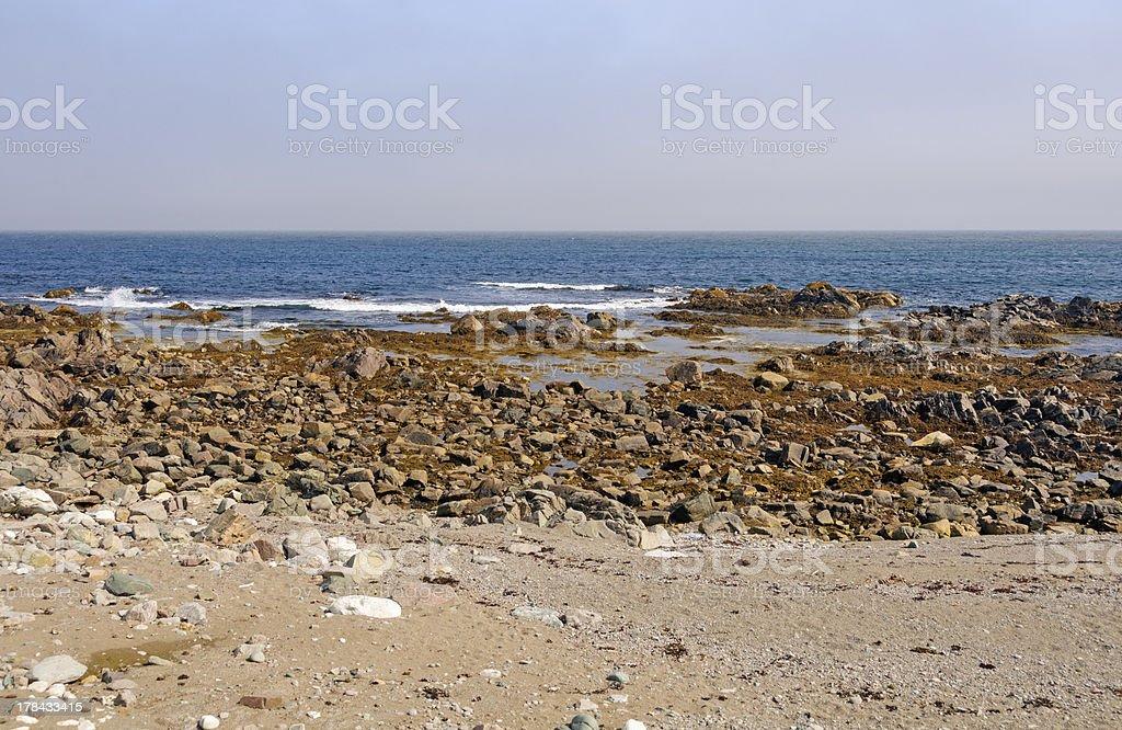 Ocean Coast on a summer day stock photo
