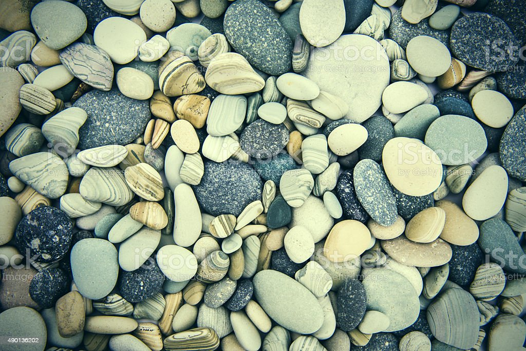 ocean costal rocks - cristal clean rocks- pasific ocean coast stock photo