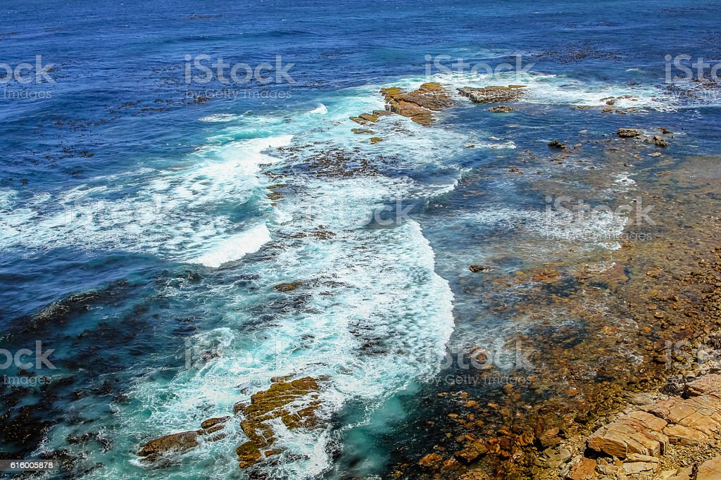 Ocean currents Cape Point stock photo