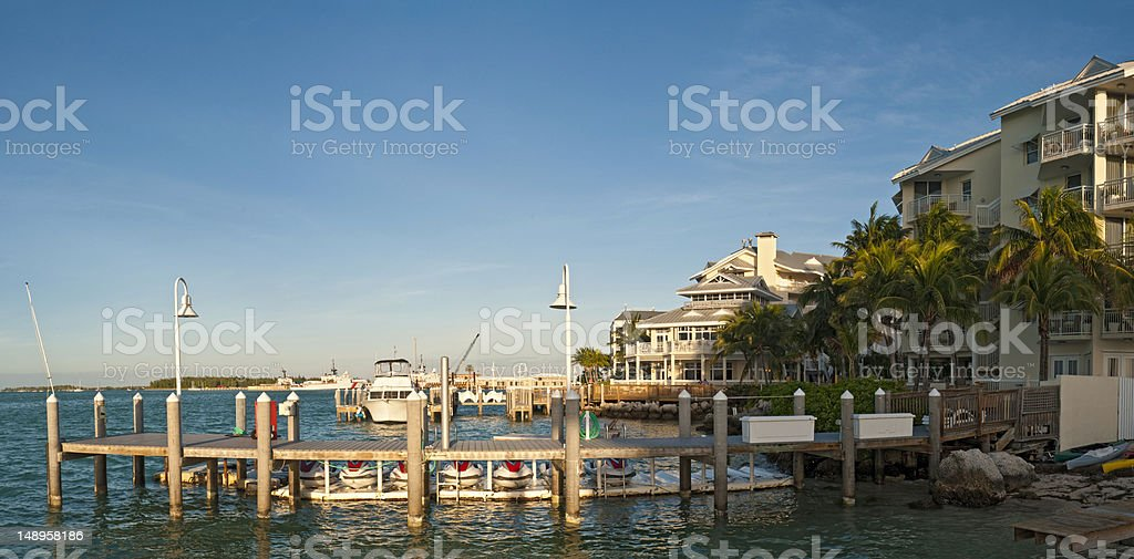 Ocean dock luxury hotel royalty-free stock photo