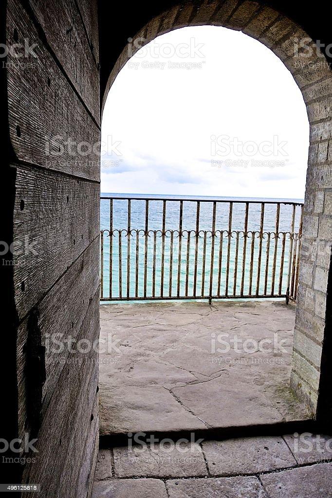 Ocean door stock photo