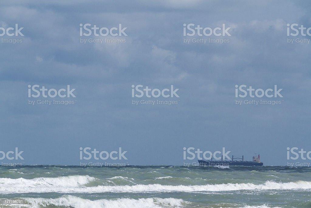 Ocean drilling royalty-free stock photo