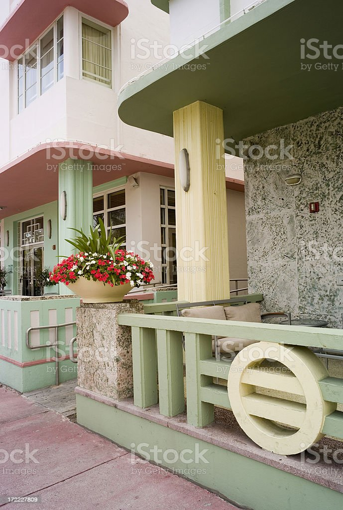 Ocean Drive Architecture royalty-free stock photo