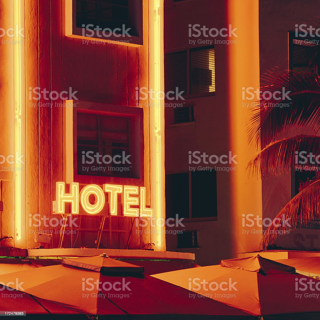 Ocean Drive Hotel Miami Beach royalty-free stock photo