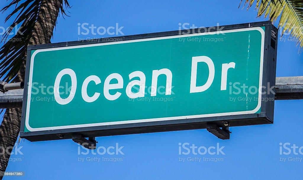 Ocean Drive Miami Beach Florida Lizenzfreies stock-foto