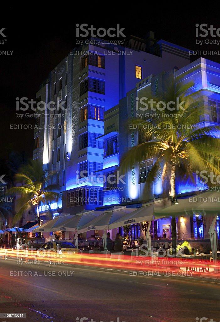 Ocean Drive Miami Beach royalty-free stock photo