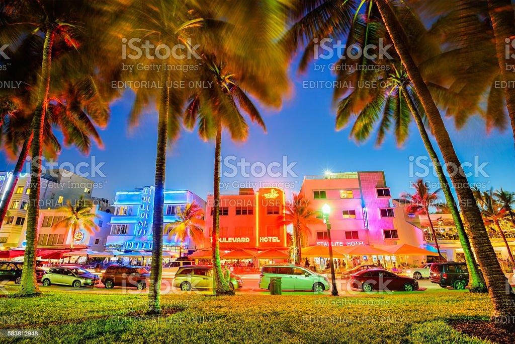 Ocean Drive Miami stock photo
