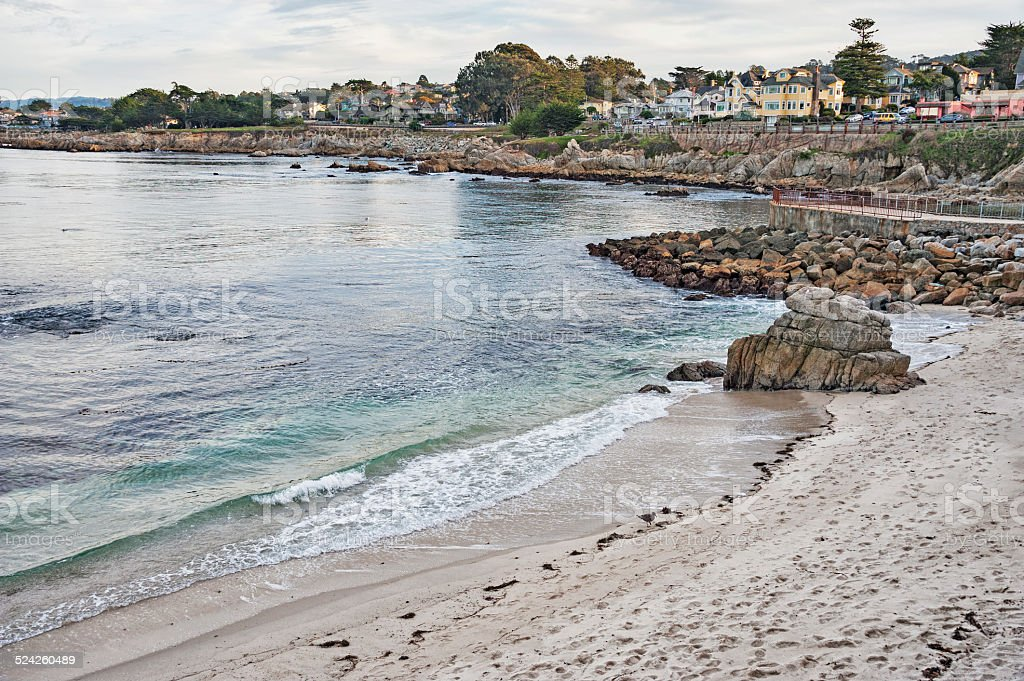 Ocean Drive Pacific Grove with Homes stock photo