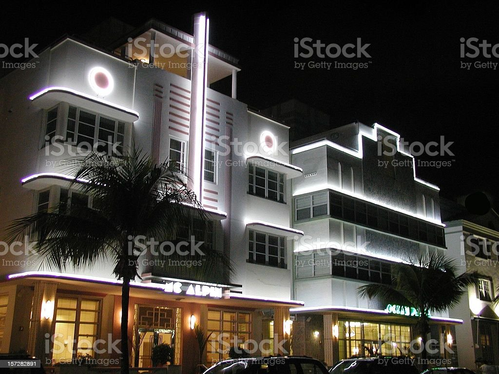 Ocean Drive royalty-free stock photo