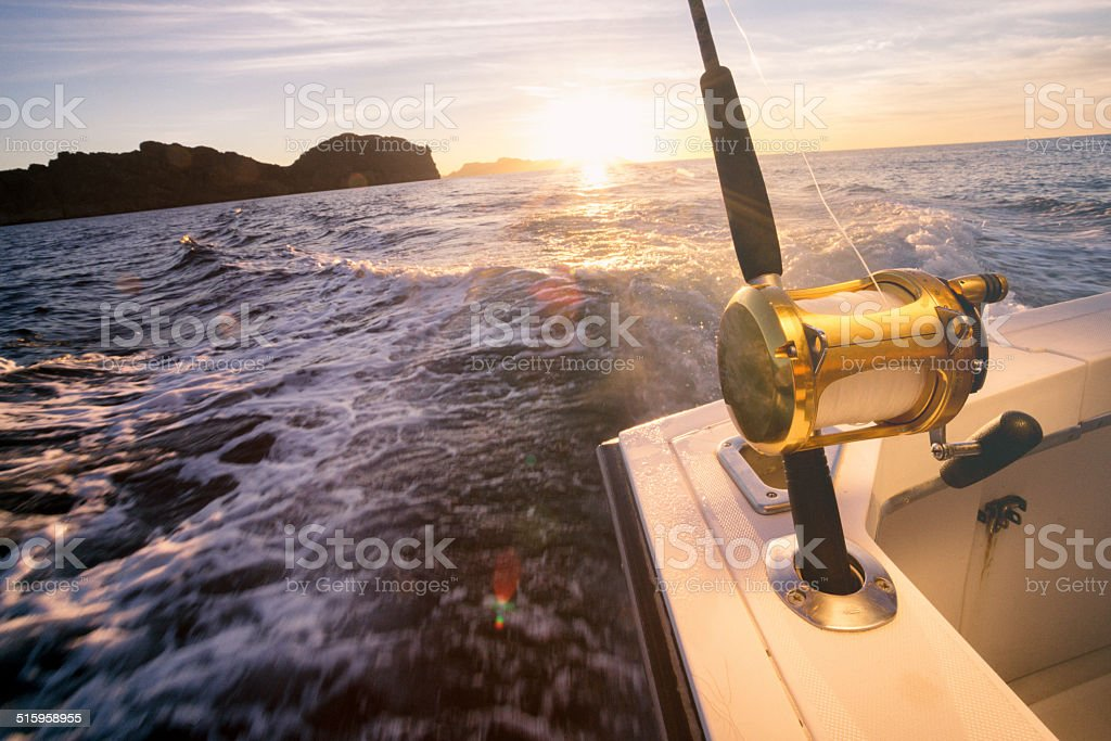 Ocean Fishing Reel stock photo