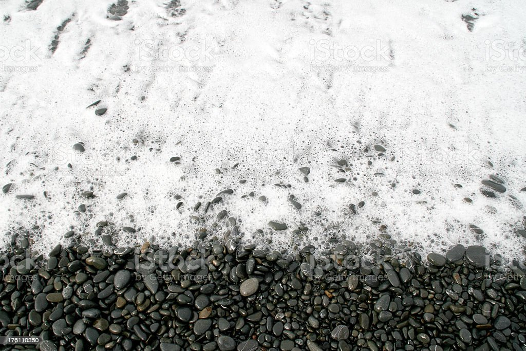 Ocean Foam and Rocks royalty-free stock photo