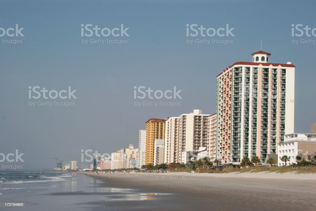 Ocean front hotels royalty-free stock photo