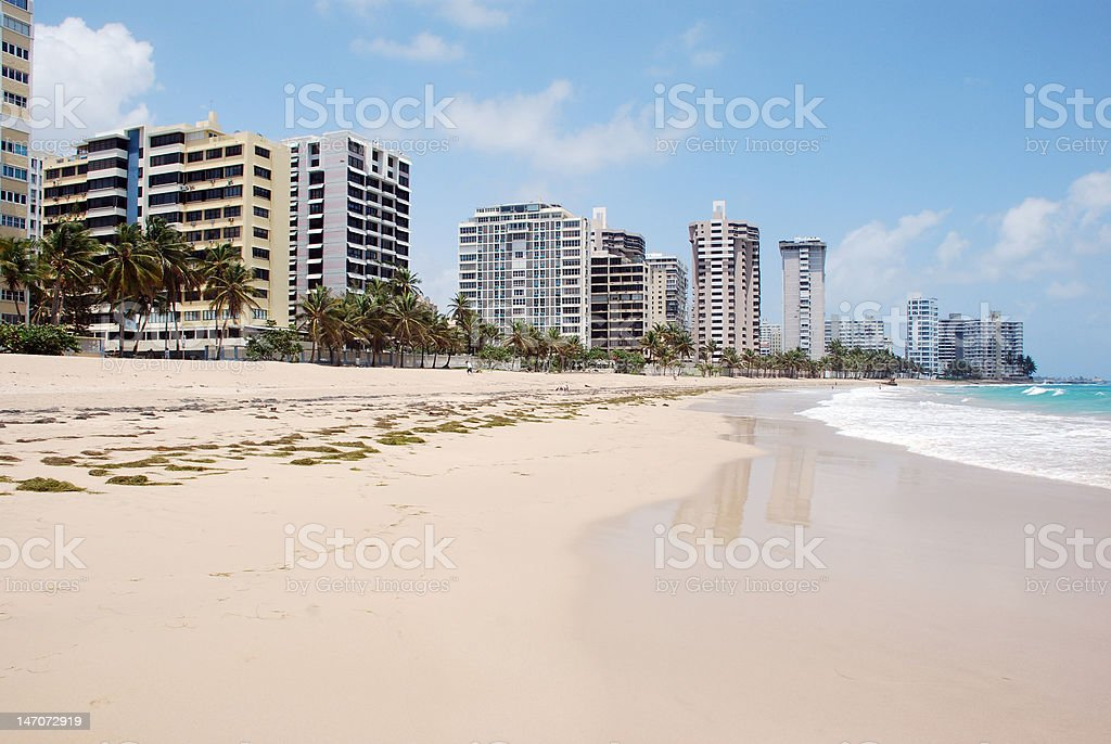 Ocean Front Property stock photo