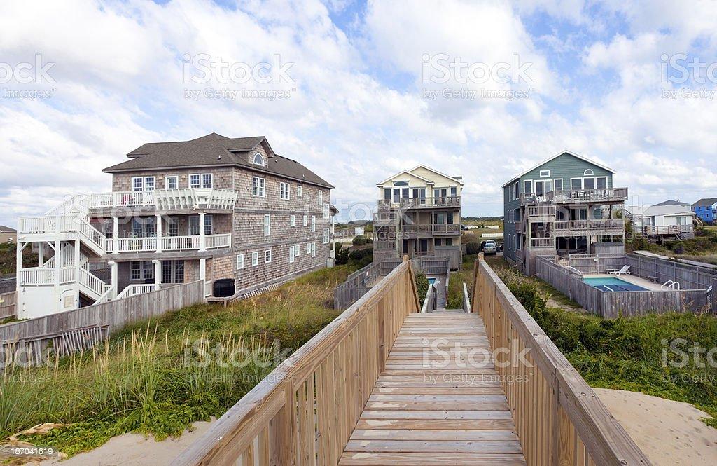 Ocean Front Rentals stock photo
