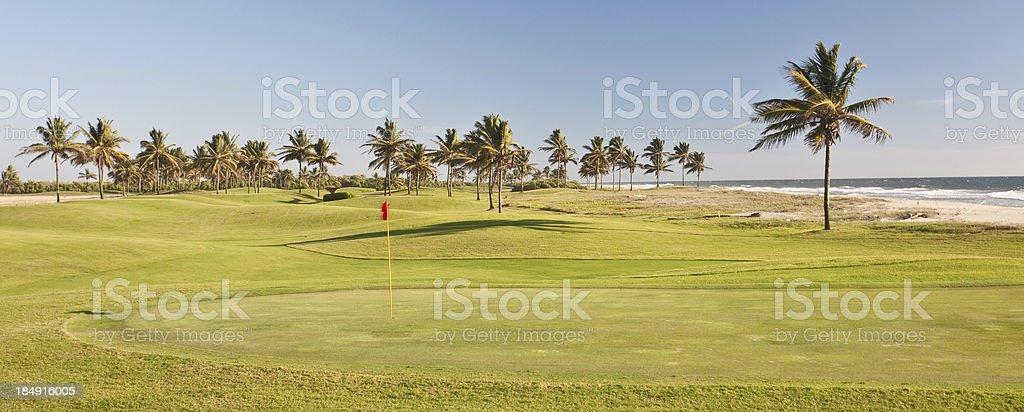 Ocean Golf Green stock photo