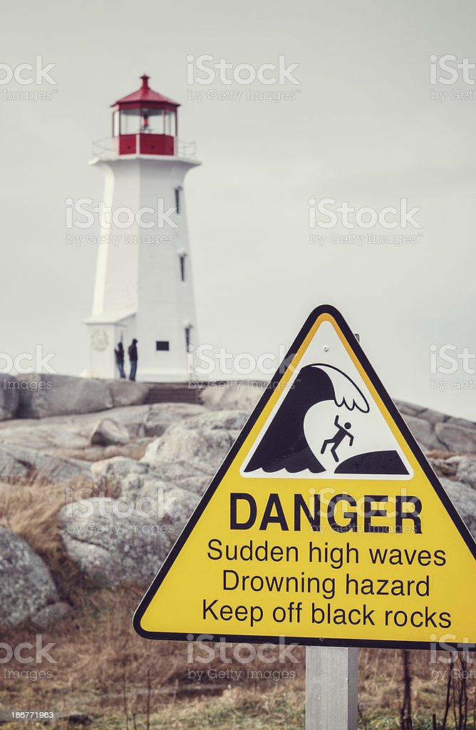 Ocean Hazards royalty-free stock photo