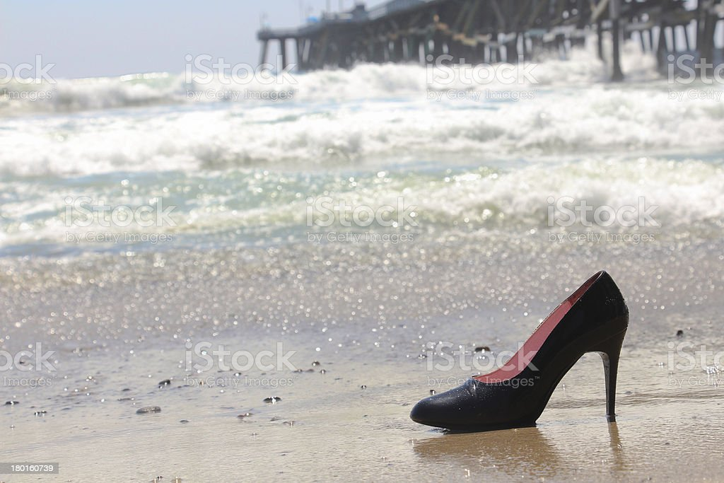 Ocean High Heel royalty-free stock photo