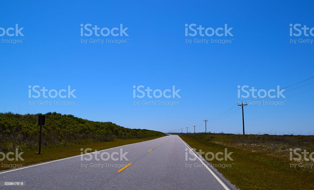 Ocean Highway stock photo
