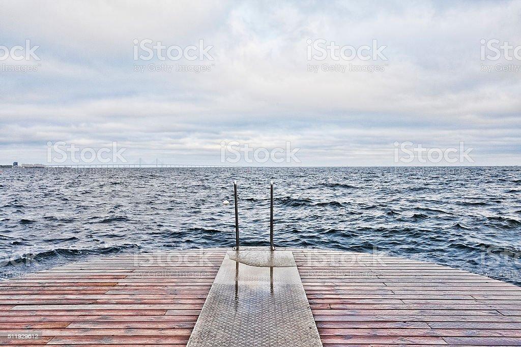 Ocean in Malmo, Sweden stock photo