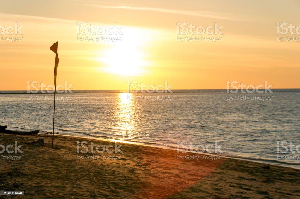 ocean in sunset time vanilla sky stock photo