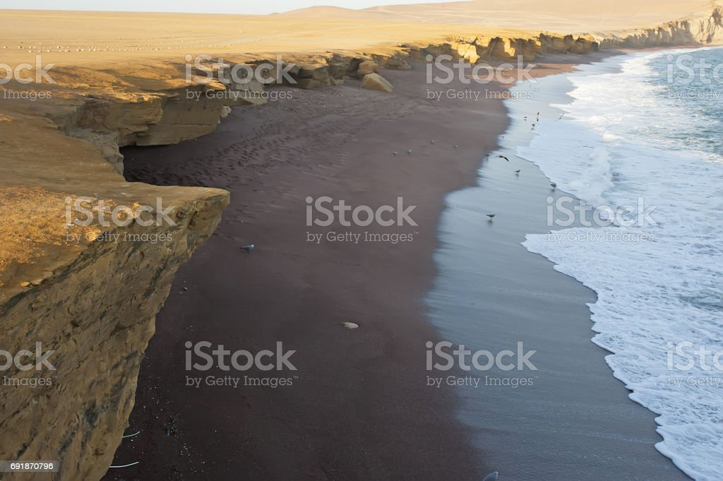 Ocean in the desert. Peru stock photo