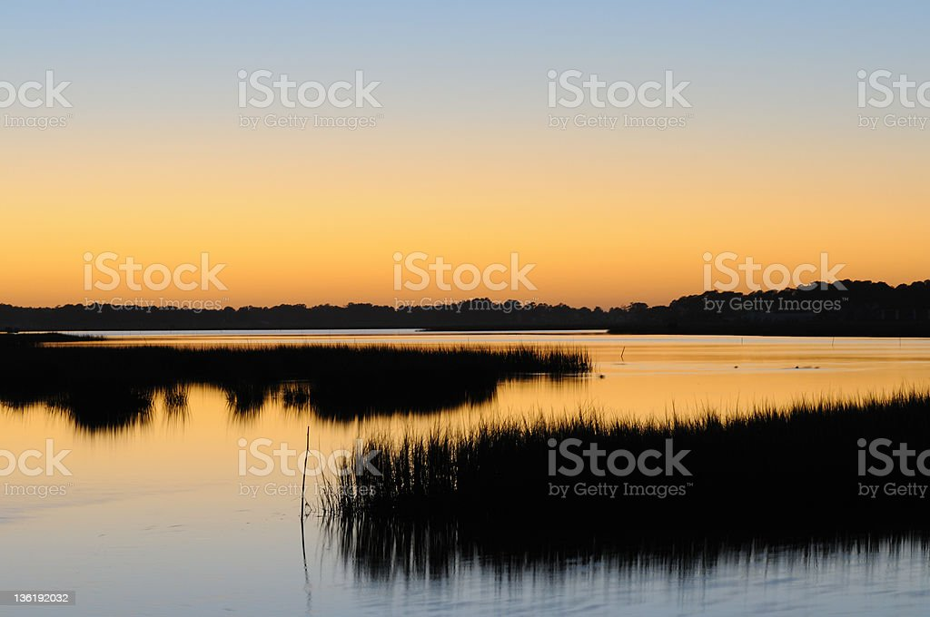 Ocean Inlet Sunset royalty-free stock photo