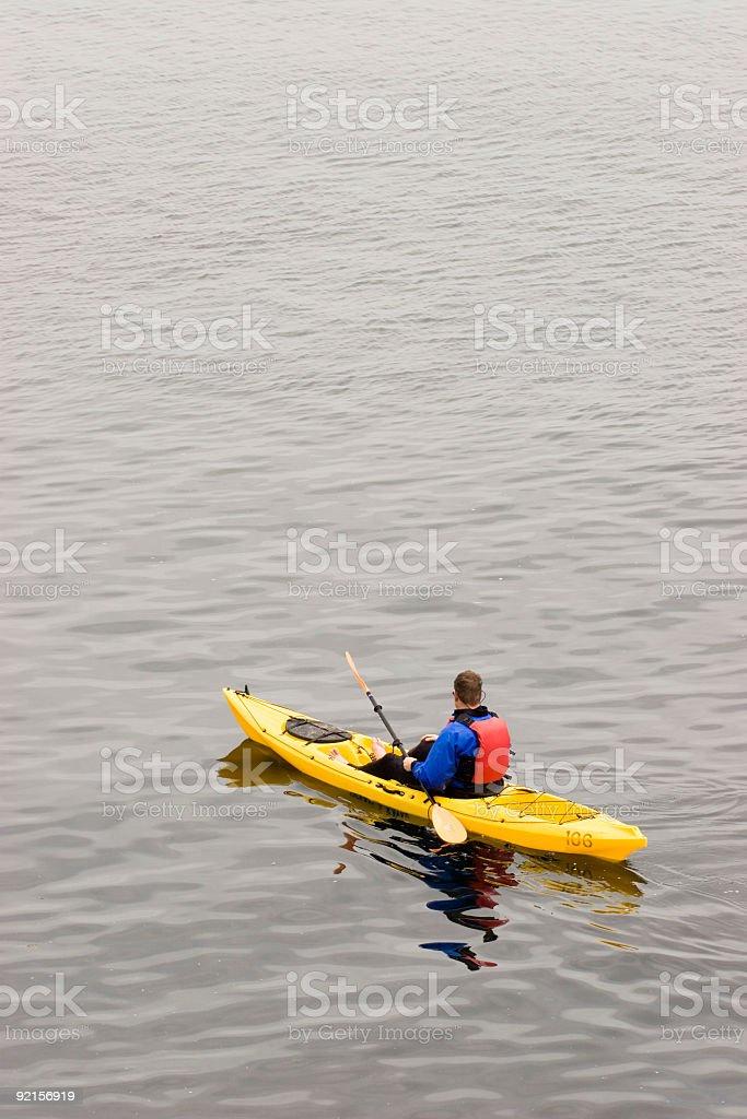 Ocean Kayaking royalty-free stock photo