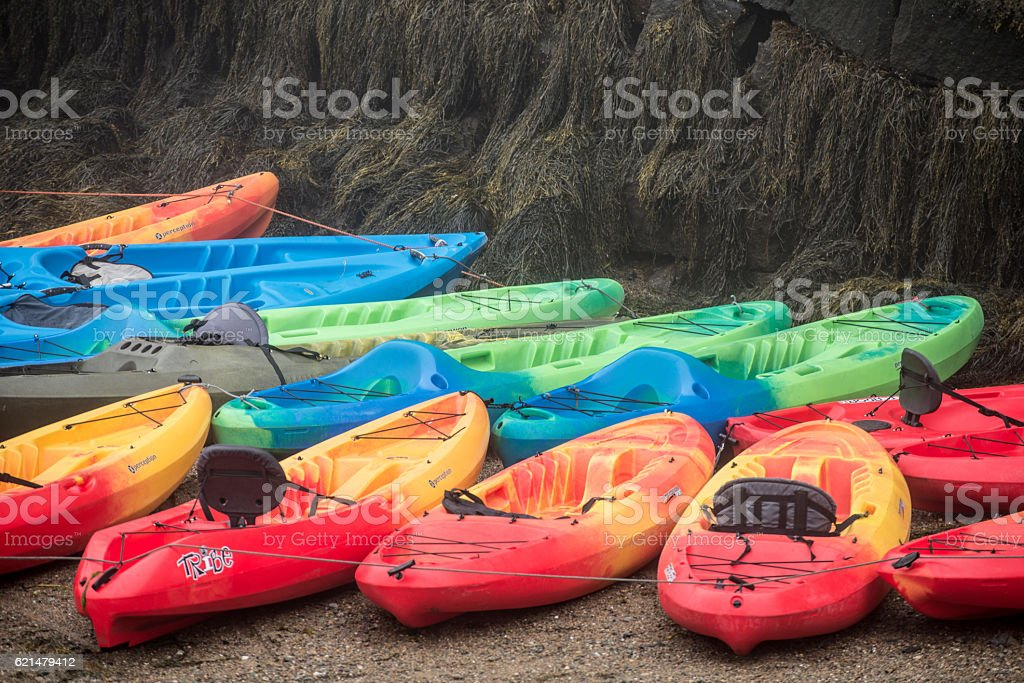 ocean kayaks stock photo