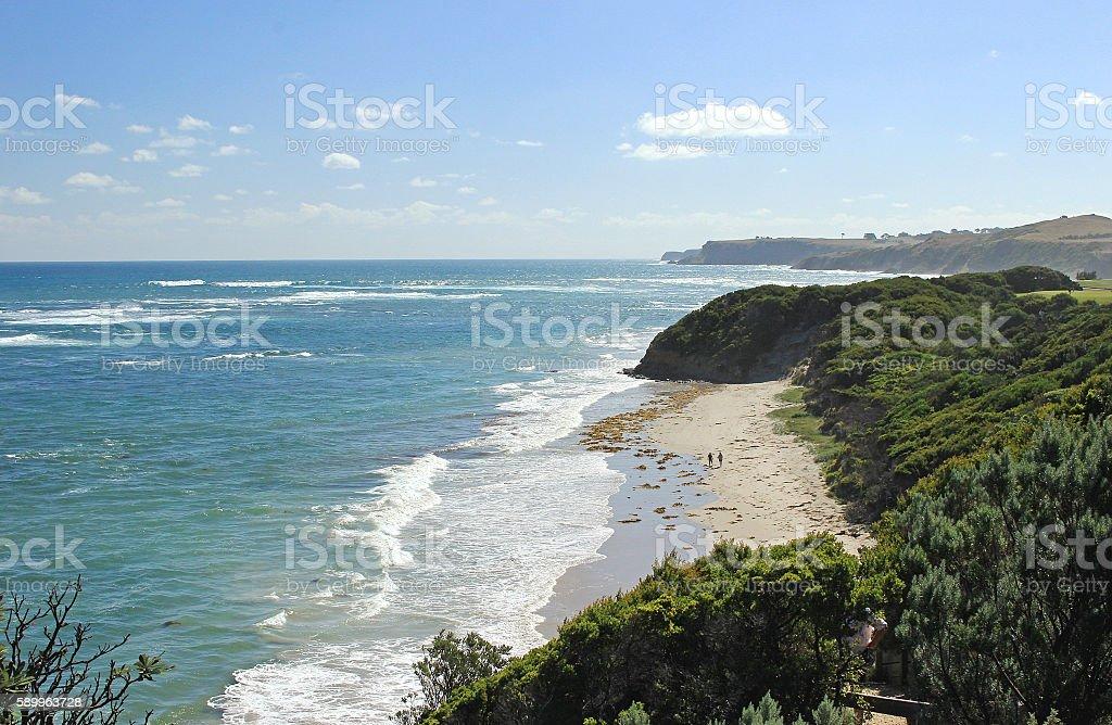 Ocean landscape at Flinders, Victoria, Australia stock photo