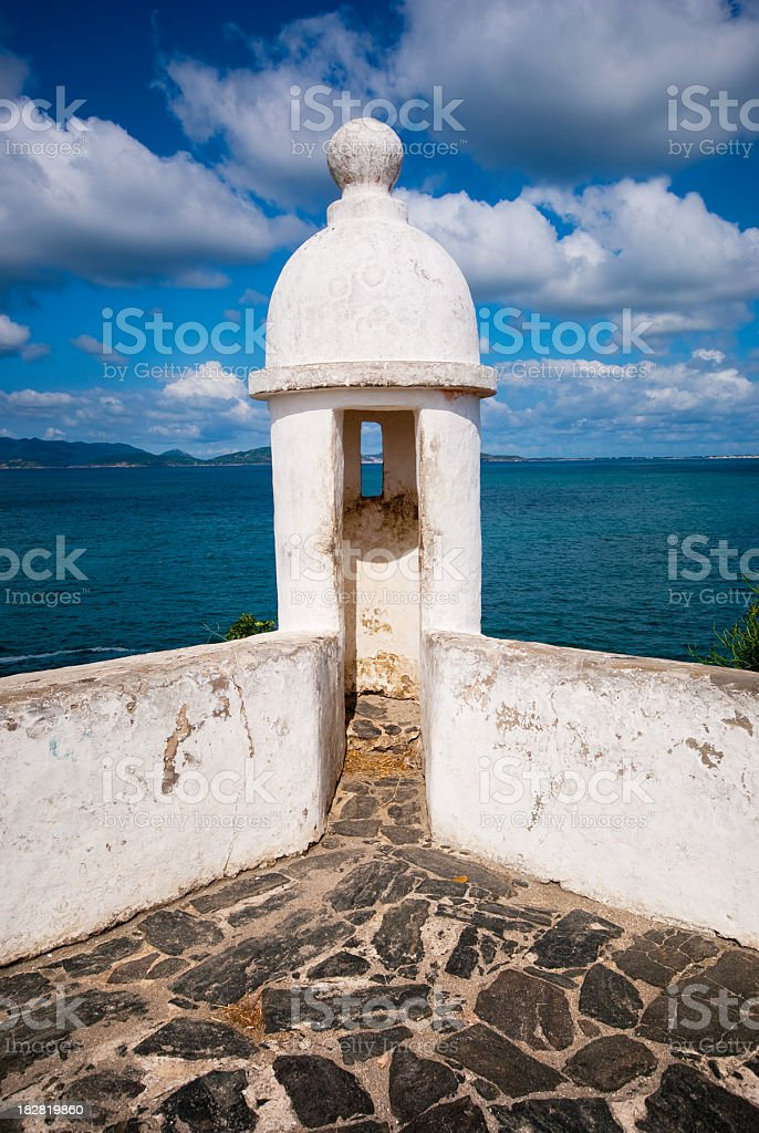 ocean landscape fort stock photo