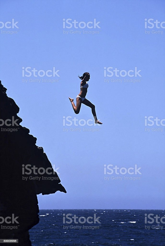 Ocean Leap royalty-free stock photo