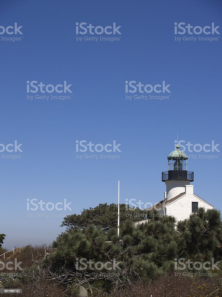 Ocean Lighthouse - Vertical royalty-free stock photo