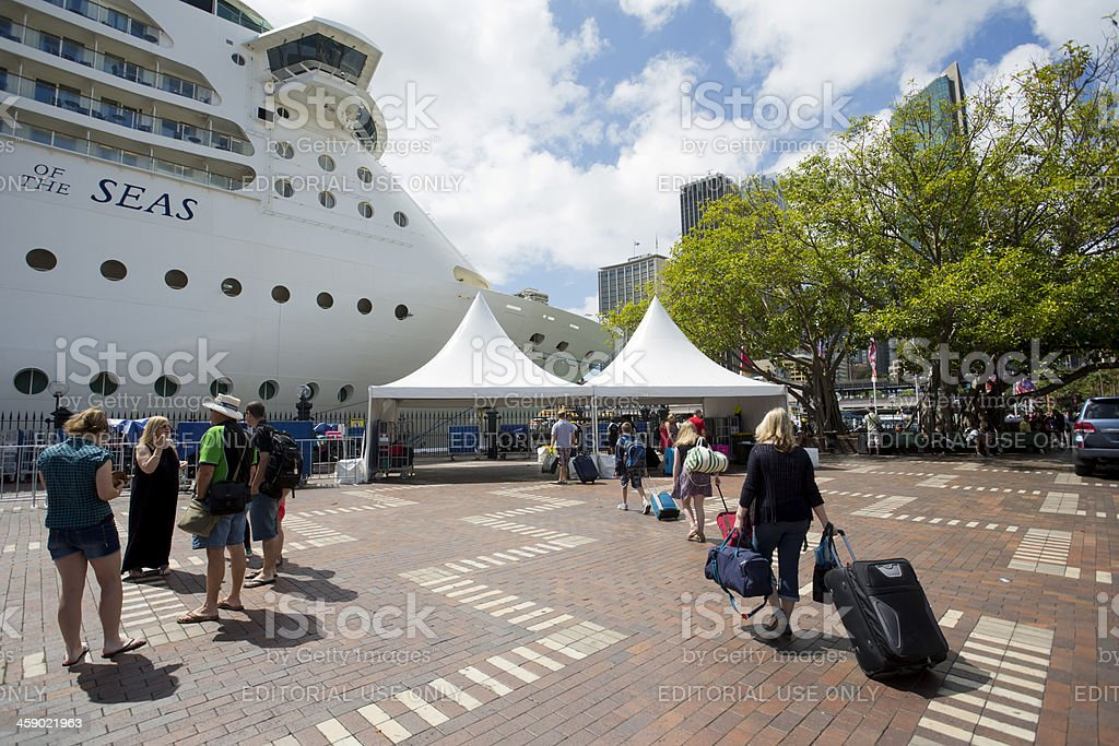 Ocean Liner Passengers stock photo