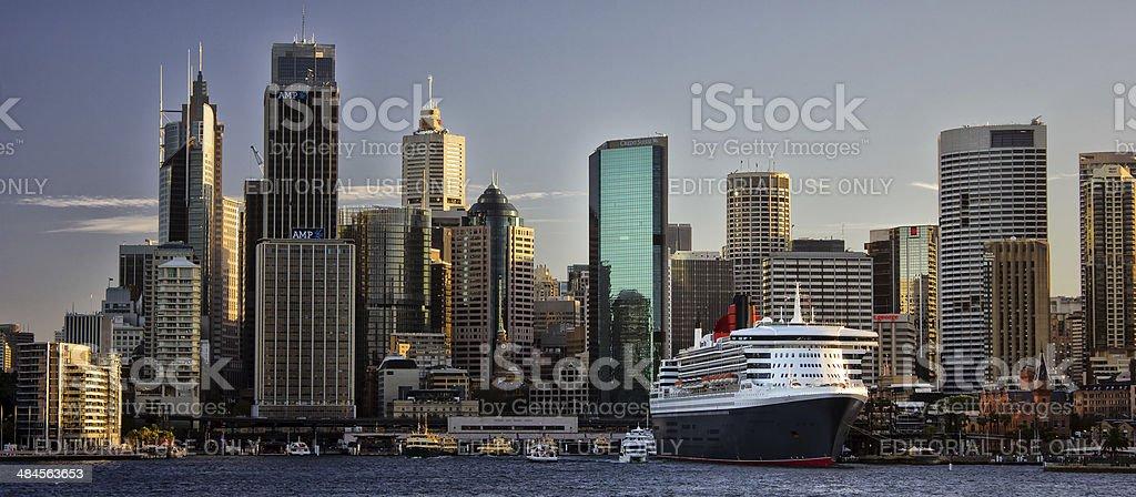 Ocean Liner Queen Mary 2 in Sydney stock photo