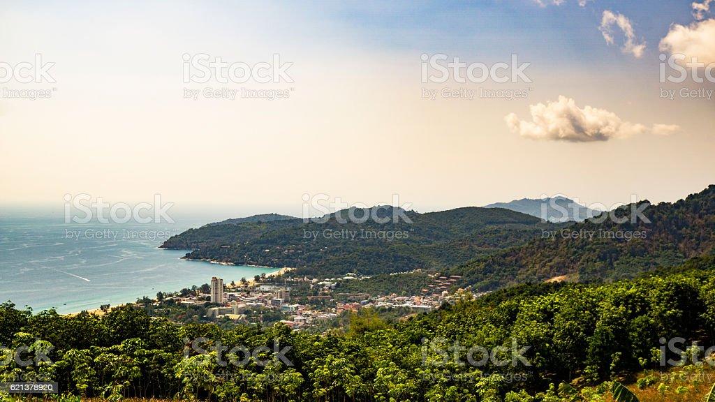 ocean mountains stock photo