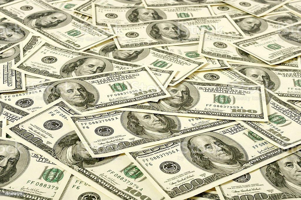 Ocean of dollars stock photo