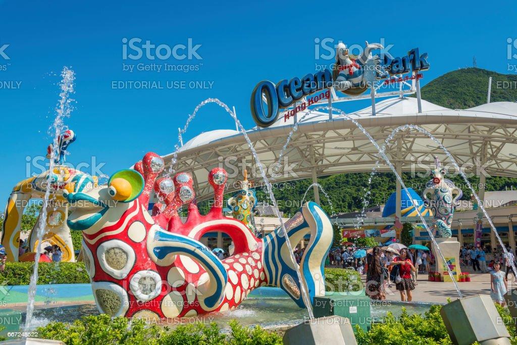 Ocean Park, Hong Kong stock photo