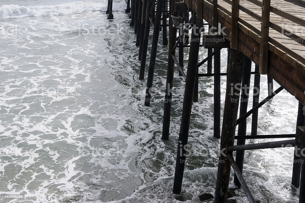 Ocean Pier Support royalty-free stock photo