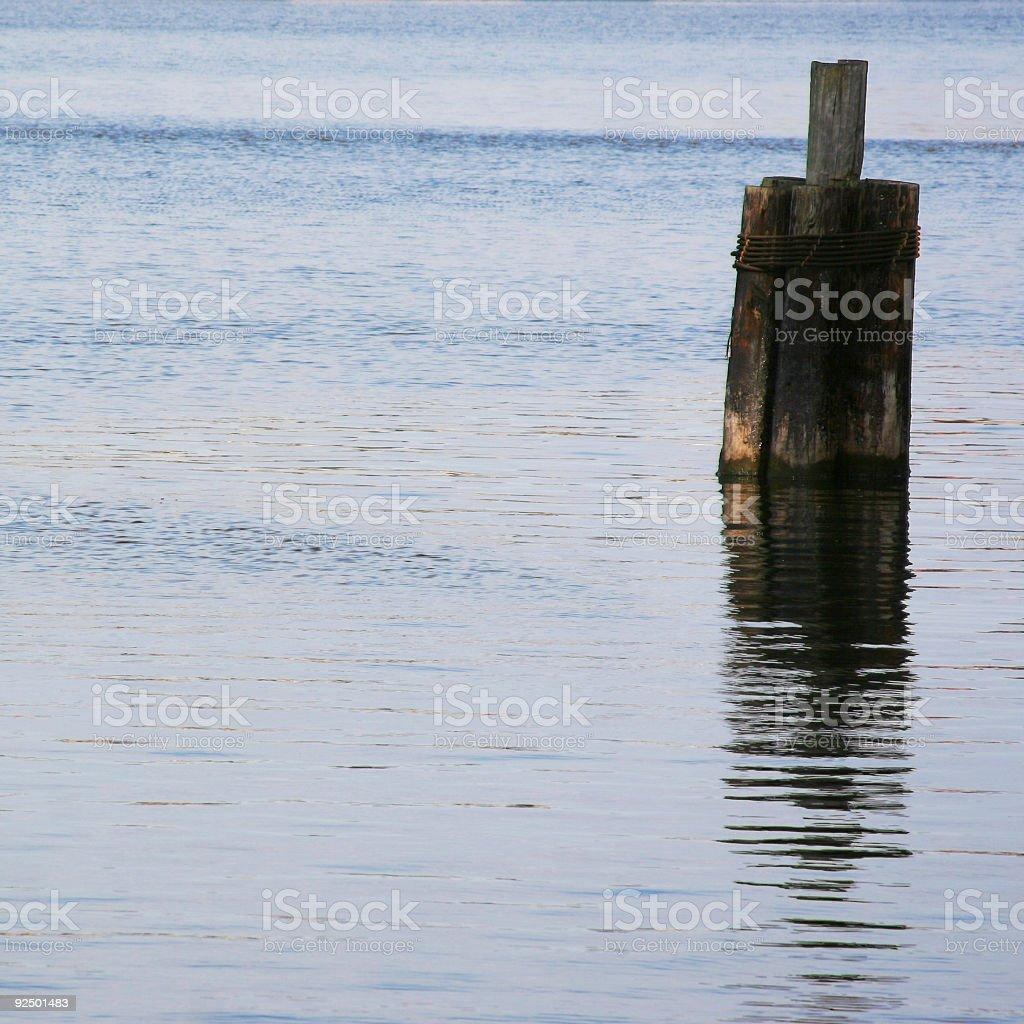 ocean Piling royalty-free stock photo