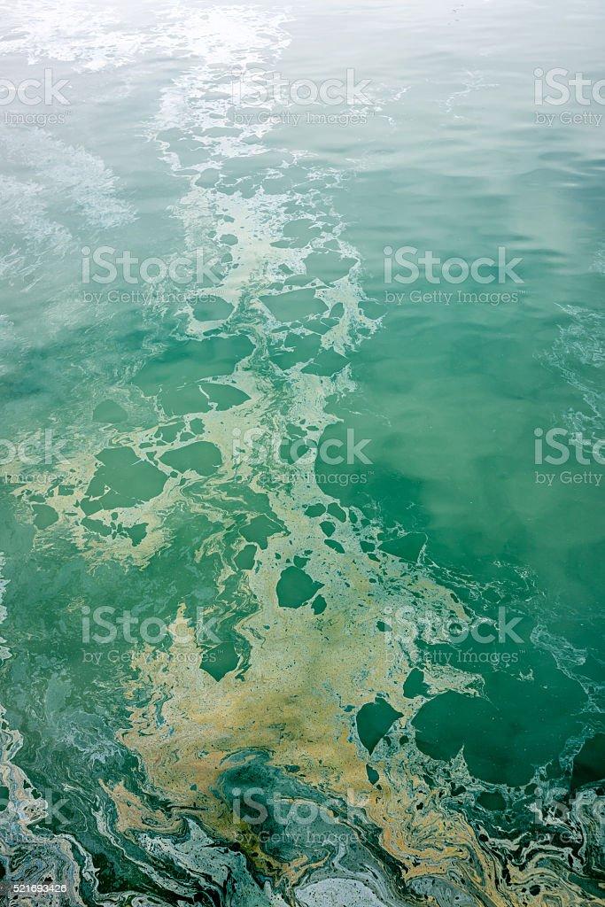 Ocean pollution stock photo