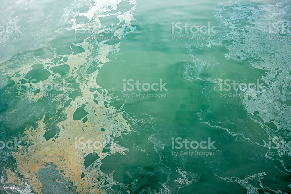 Ocean pollution stock photo