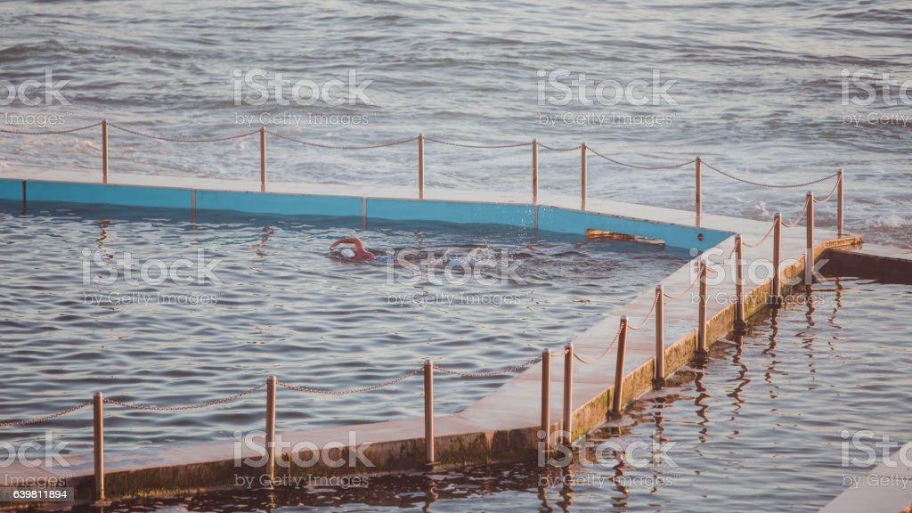 Ocean pool stock photo