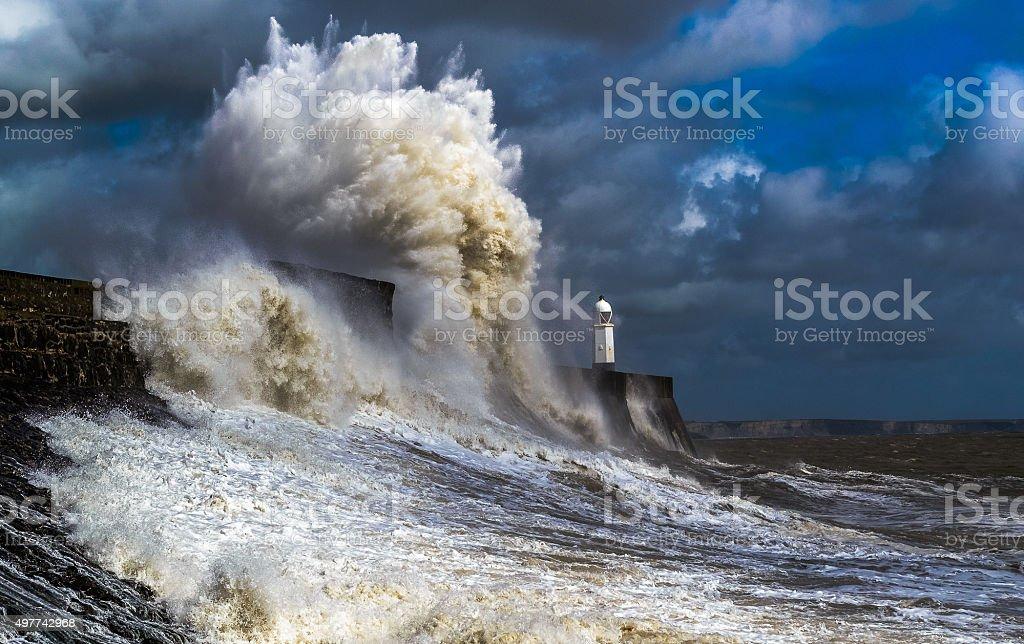 ocean power stock photo