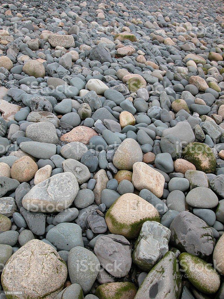 Ocean Rock Field royalty-free stock photo