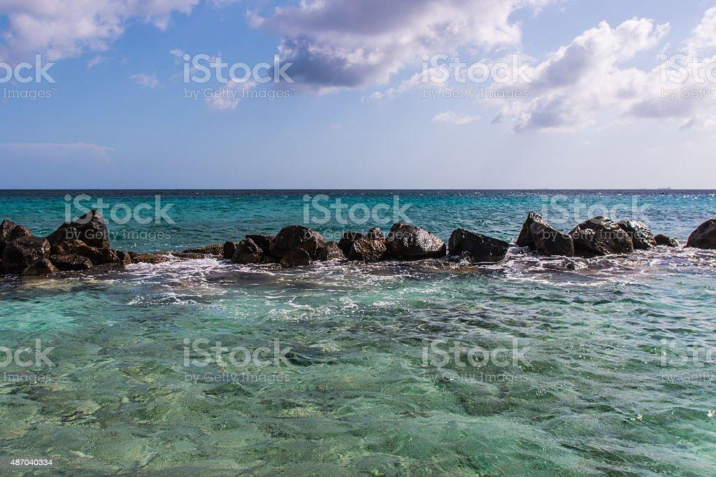 Ocean rocks stock photo