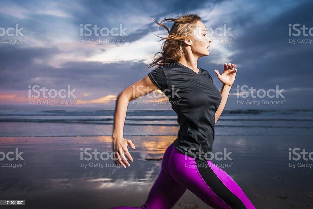 Ocean Runner stock photo