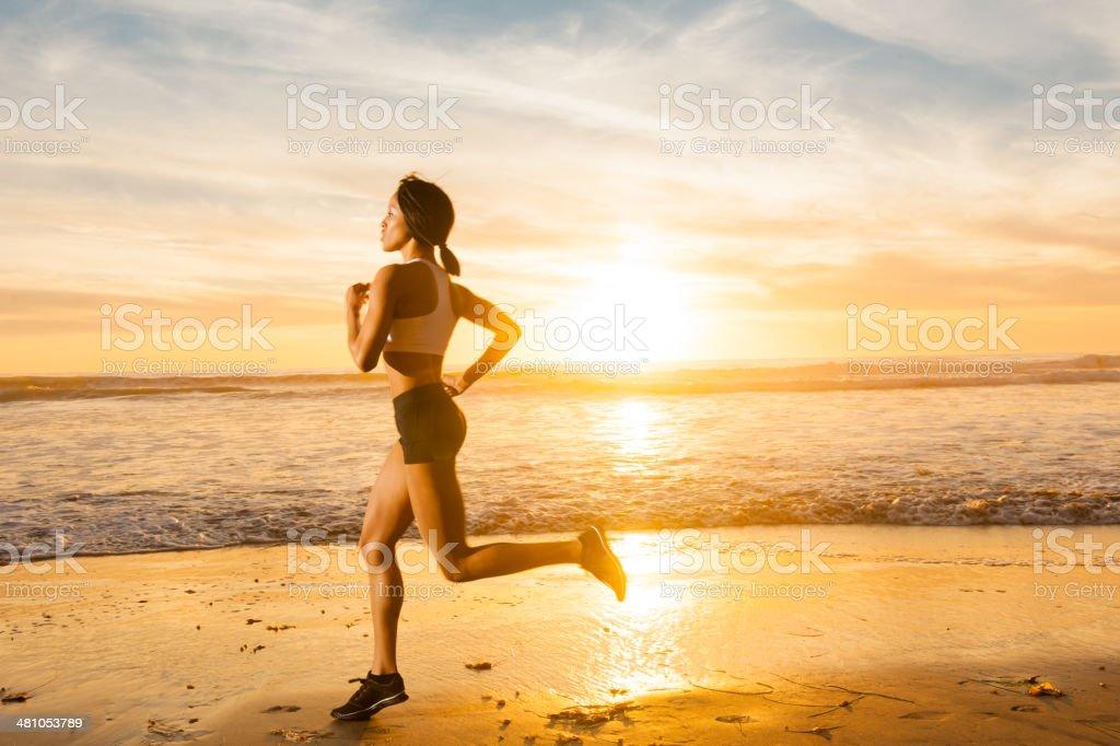 Ocean Runner royalty-free stock photo